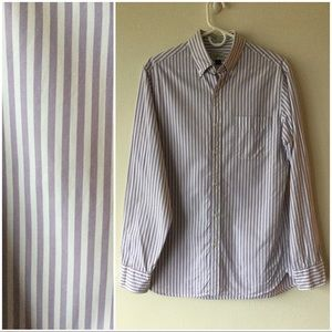 J.Crew Small LS Striped Dress Shirt Purple/White